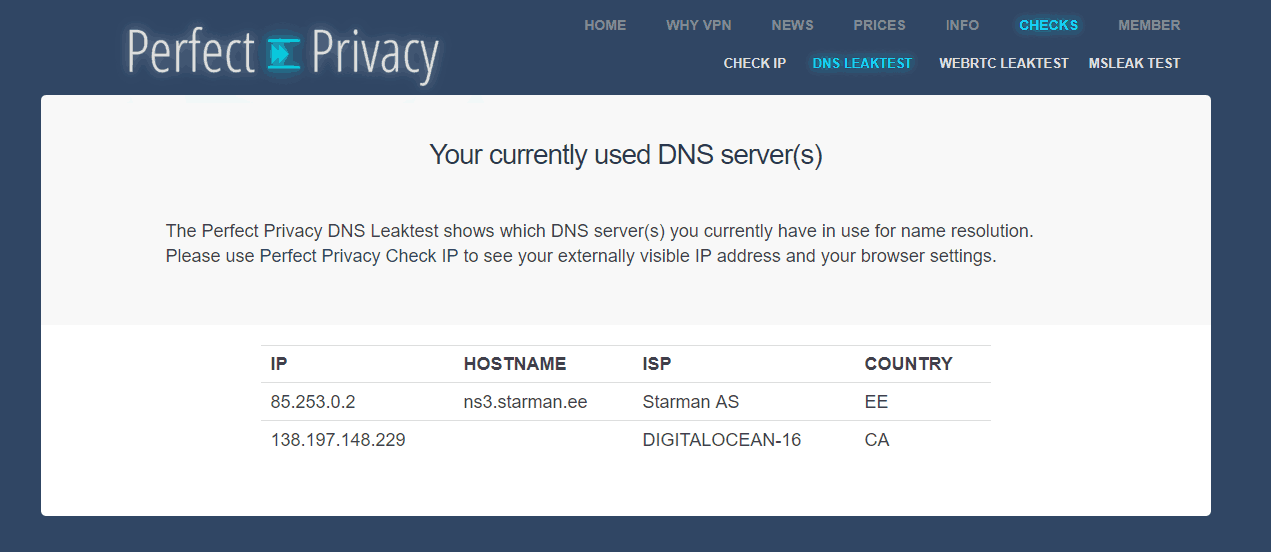 Hoxx VPN DNS Leak
