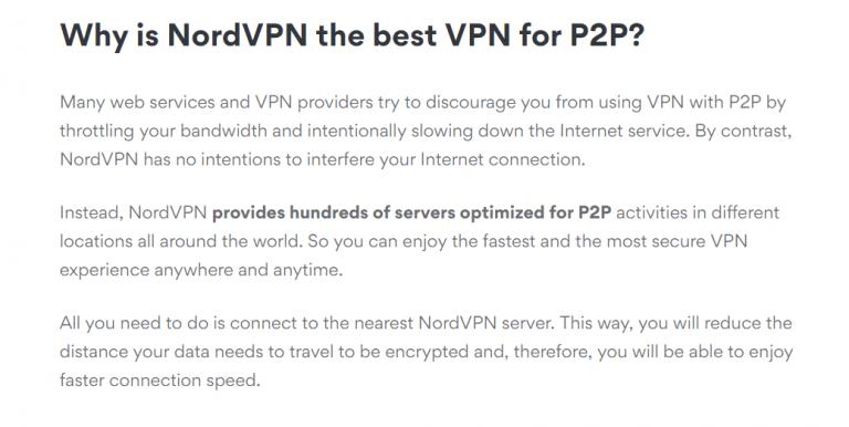NordVPN for torrenting