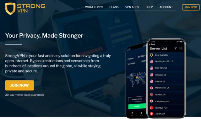 StrongVPN for Kodi