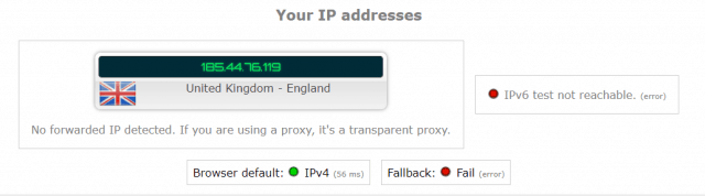 protonvpn iploak.net leak test