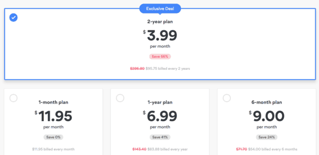 nordvpn different pricing options