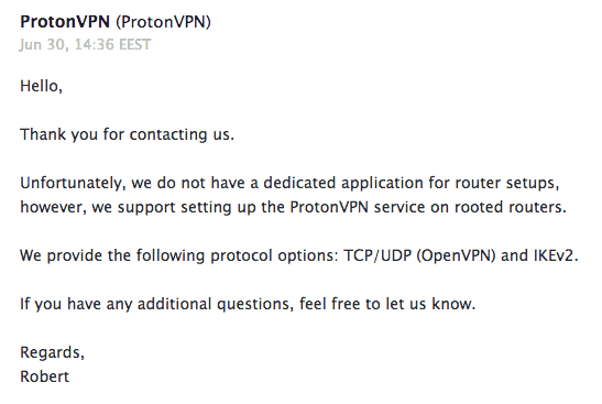 Proton customer support email