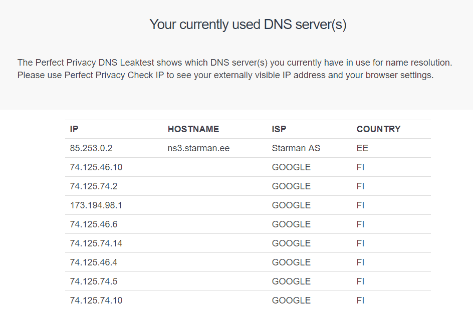 speedify DNS leak
