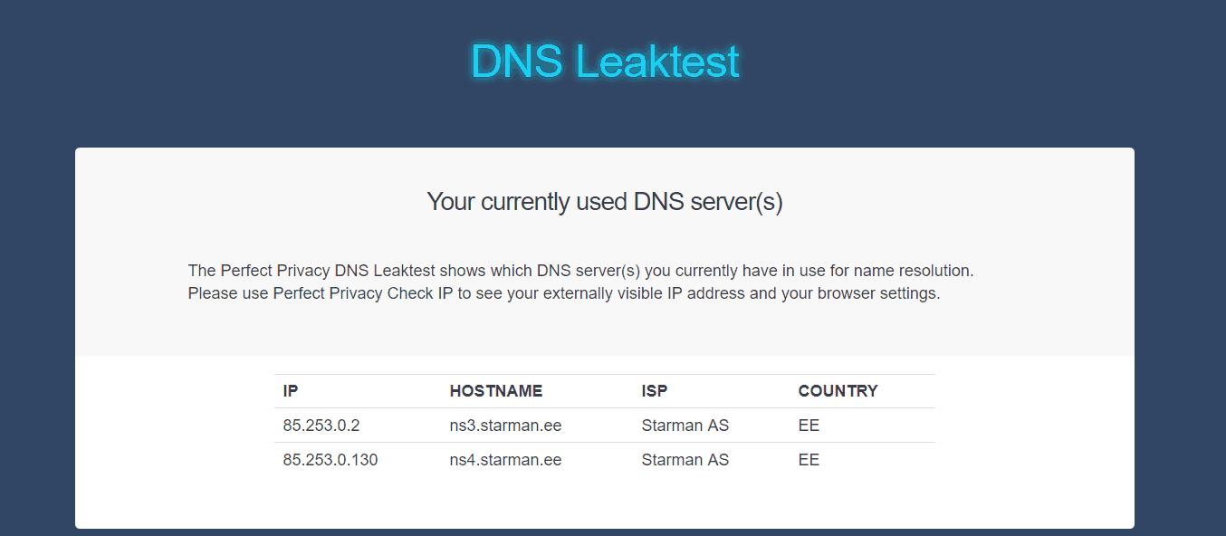 vpn ht DNS leak