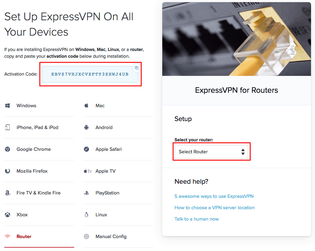 Setting Up A Router Vpn The Ultimate Guide Thebestvpn Example Of Home Networking Diagram Cable Modem Wireless Step 3 Set Expressvpn On