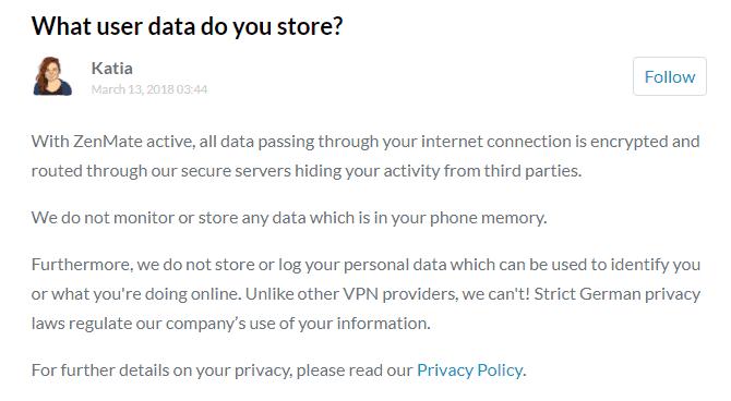 ZENMATE SECURITY PRIVACY VPN TÉLÉCHARGER