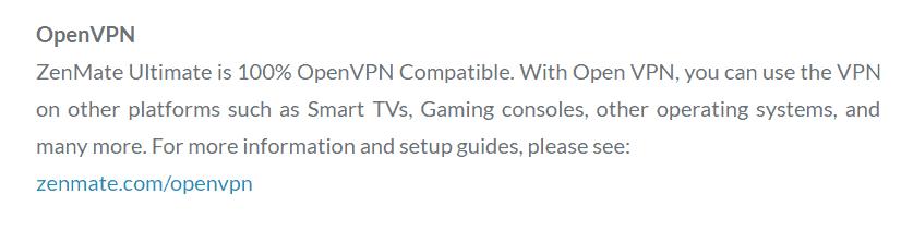 zenmate openvpn compatibility