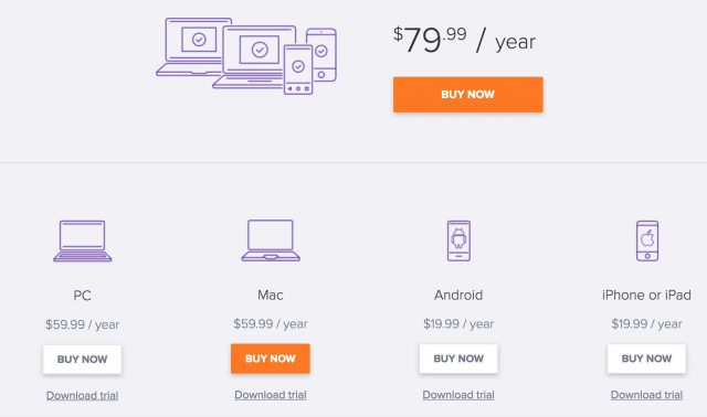 Avast pricing options and plans