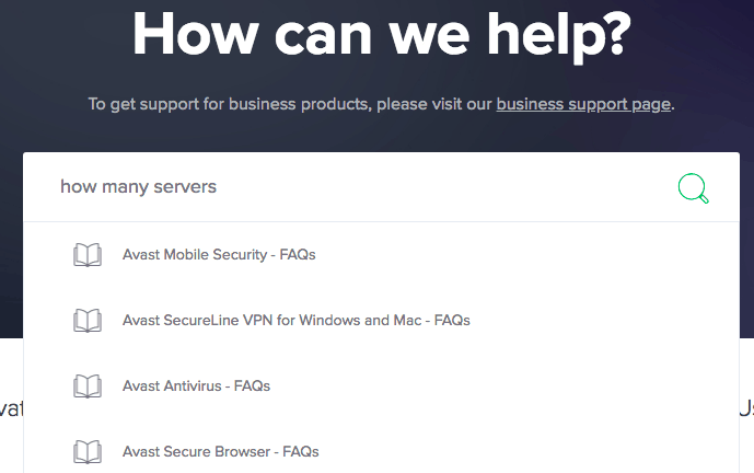 Avast How Can We Help Screen