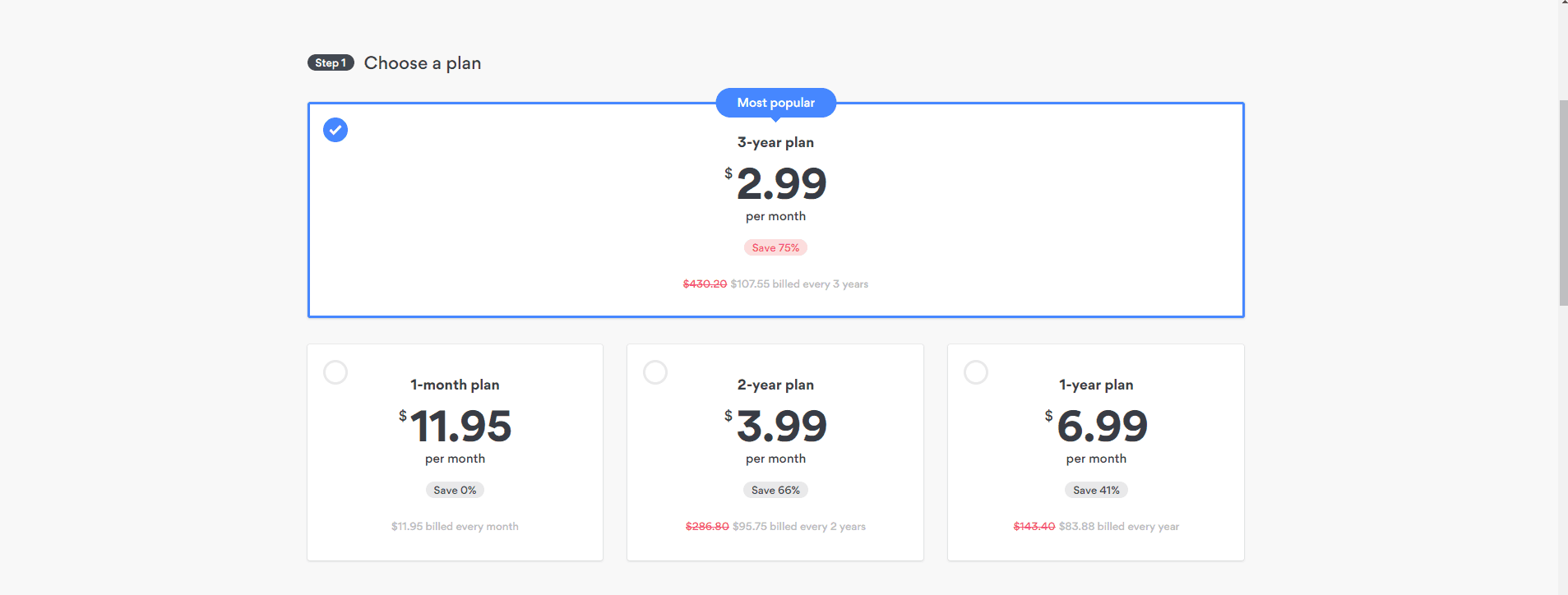 nordvpn pricing 3 year