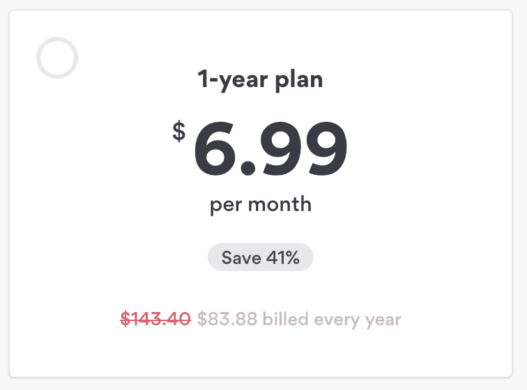 NordVPN discount for 1 year plan