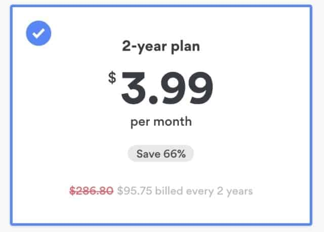 NordVPN discount for 2 year plan