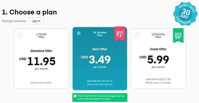 Surfshark payment plans