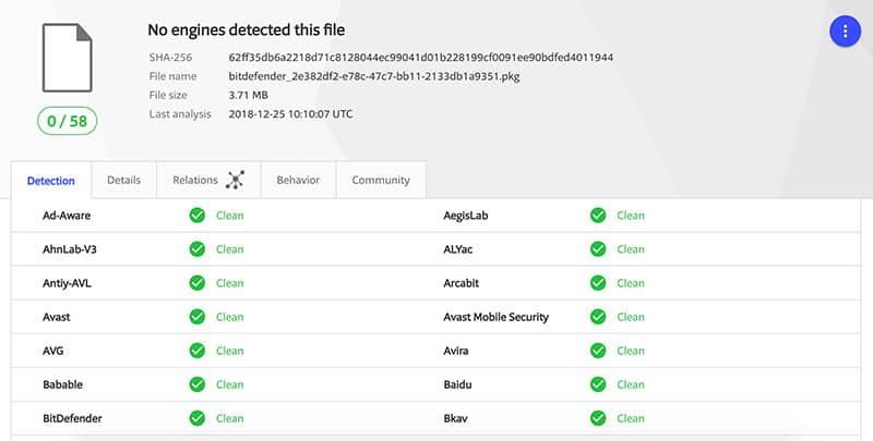 virus scan bitdefenderVPN mac