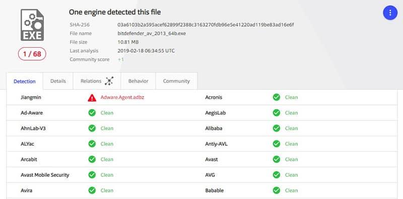 virus scan bitdefenderVPN windows