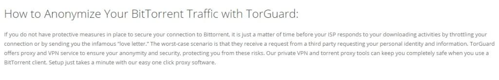Anonymize BitTorrent with TorGuard