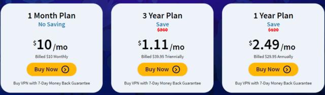FastestVPN pricing