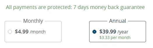 payment plans BrowsecVPN