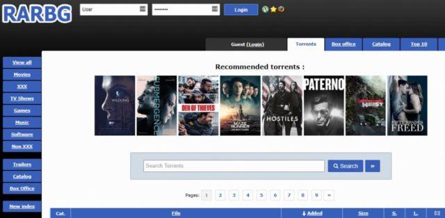 RARBG torrent site