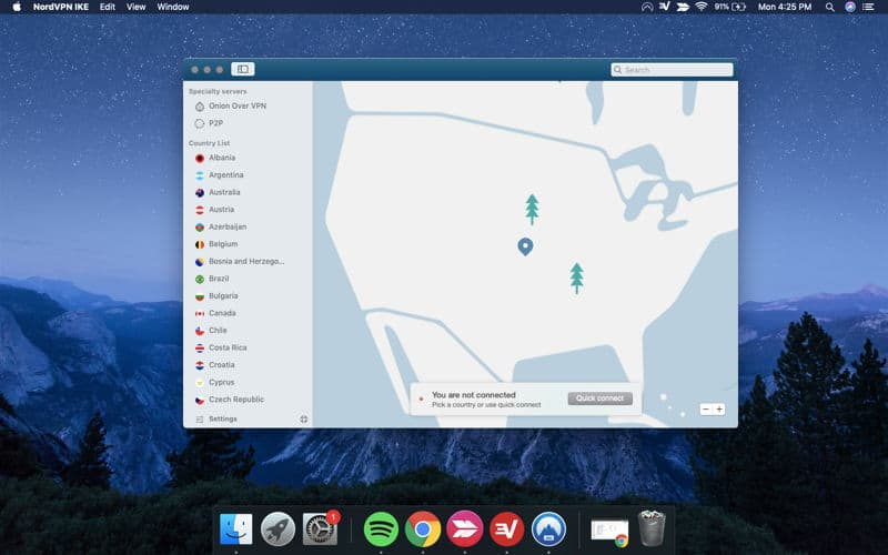 Installing the NordVPN OpenVPN application on macOS