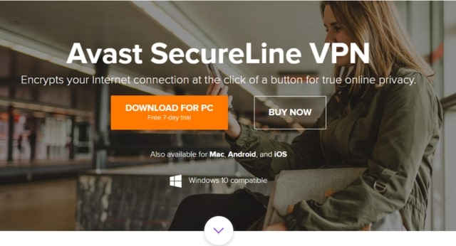 avast secureline free trial page