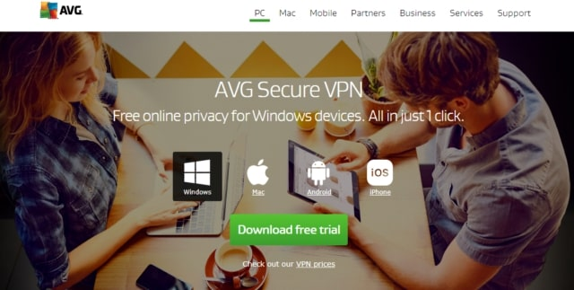 avg secure free trial page