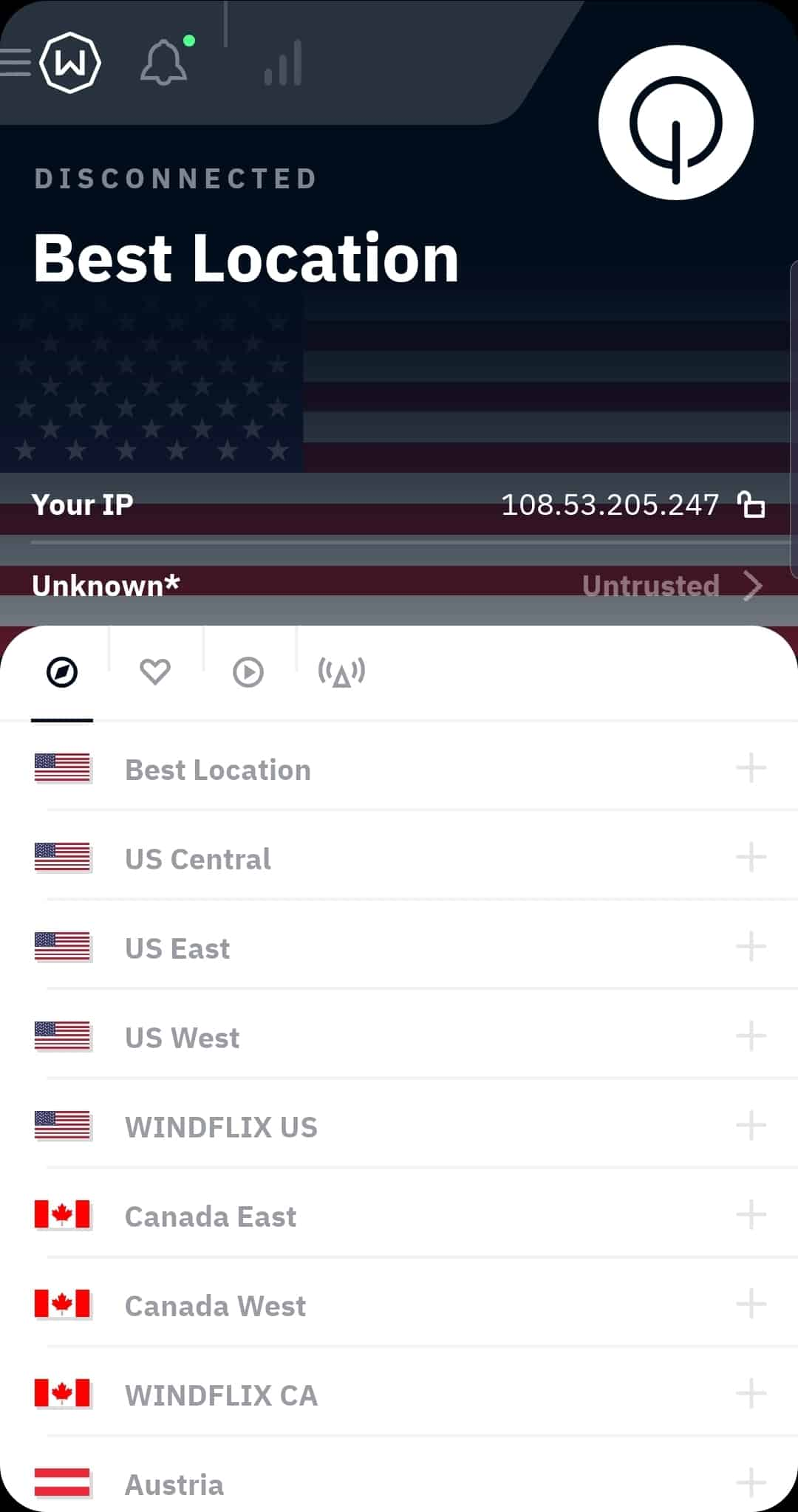 Windscribe Mobile App