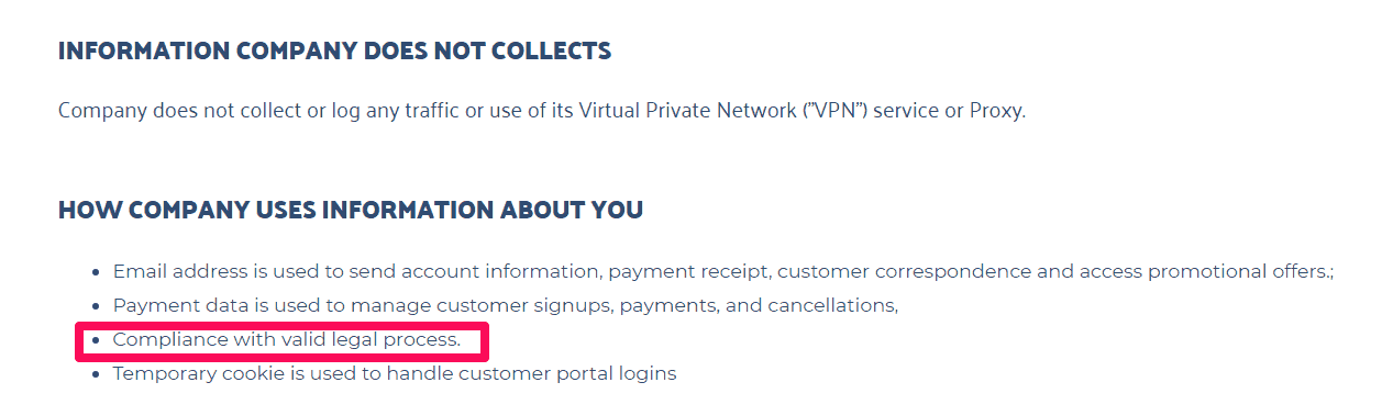 SwitchVPN Privacy Policy