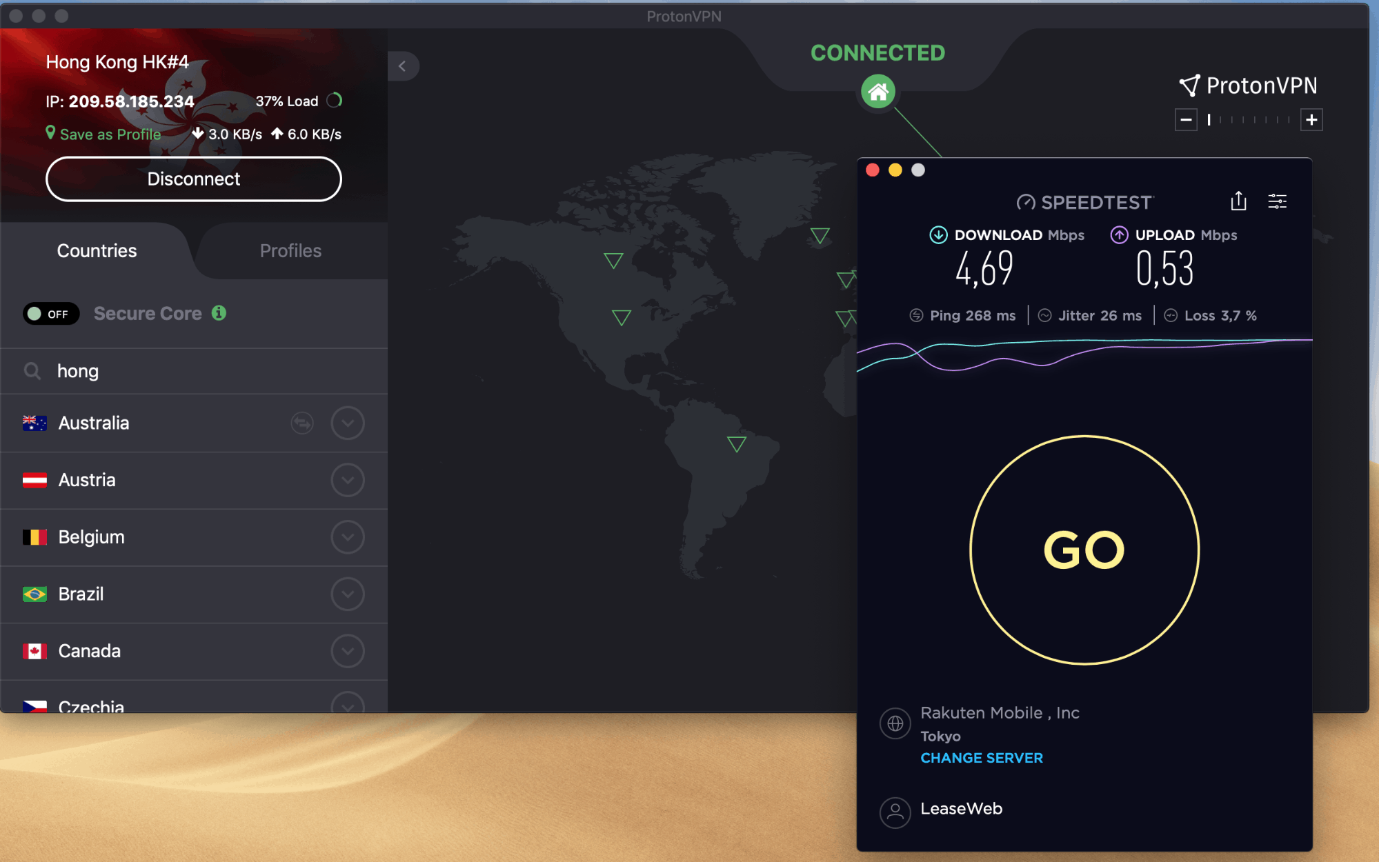 protonvpn speed test from china on unicom