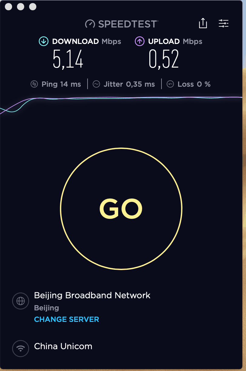 benchmark speed test in china for unicom