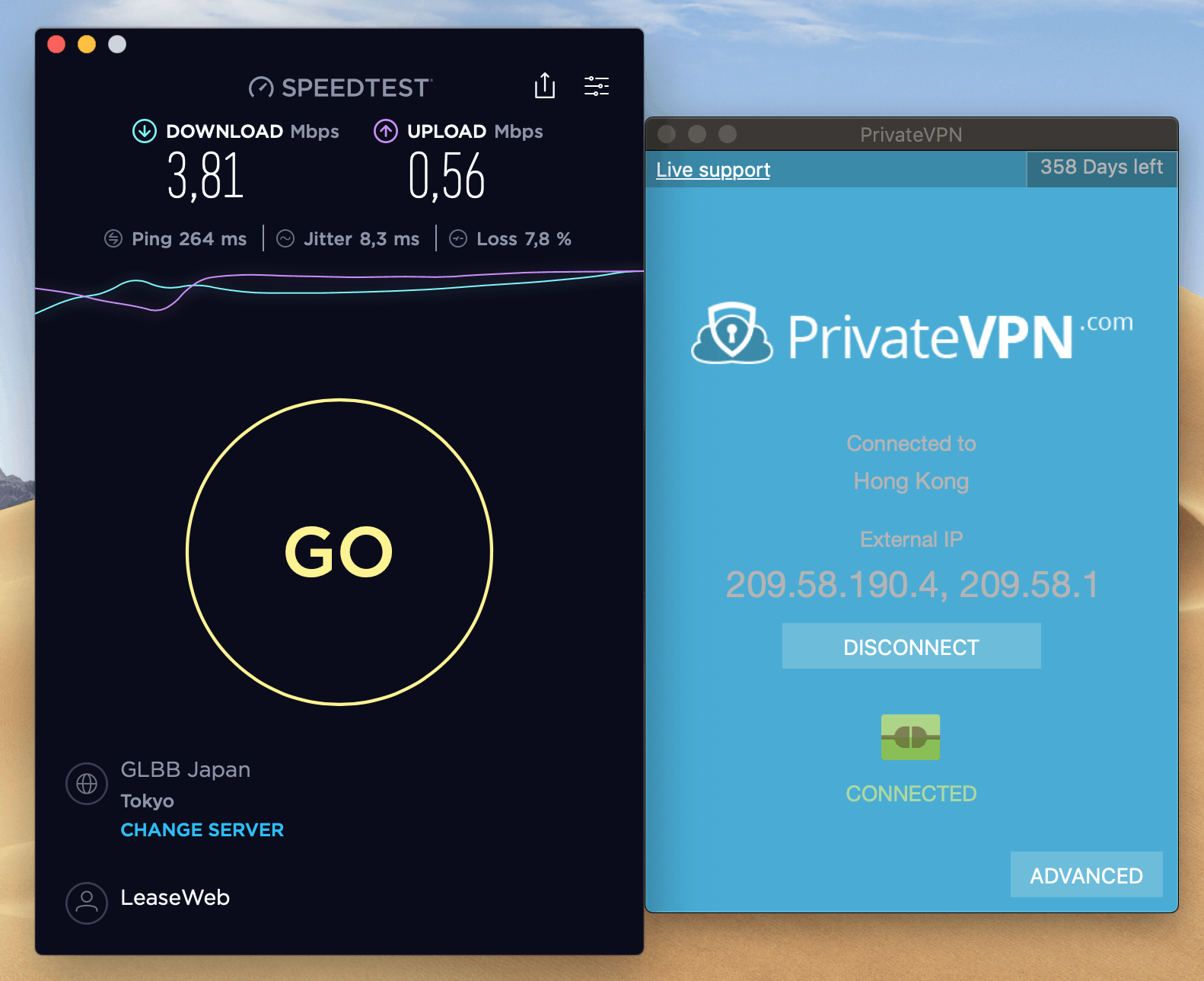 privatevpn speed test from china unicom
