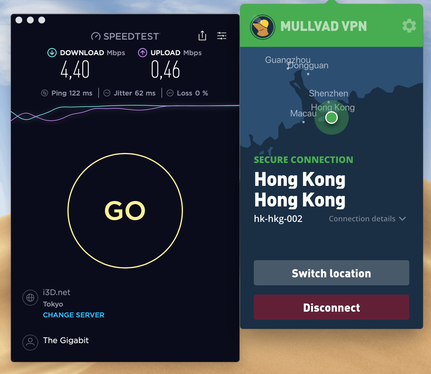 mullvad speed test from china unicom