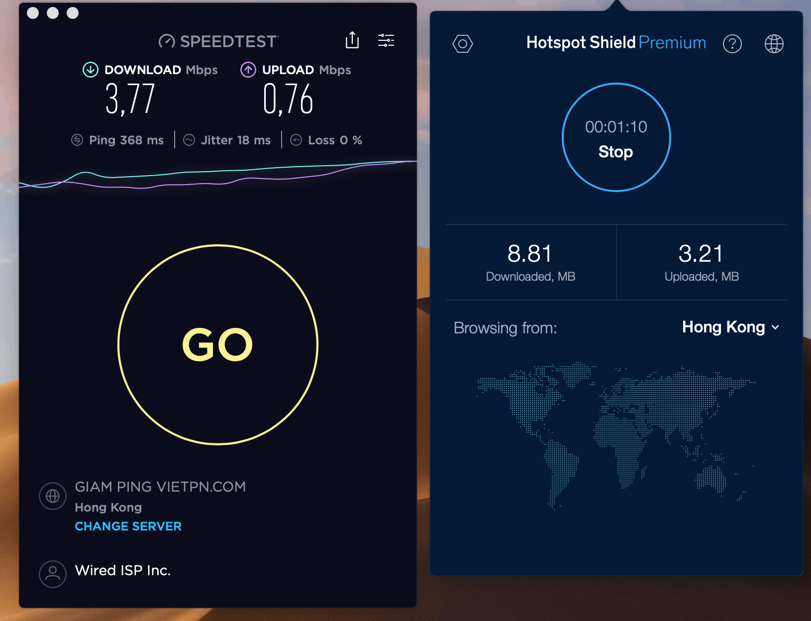 hotspot shield speed test from china unicom