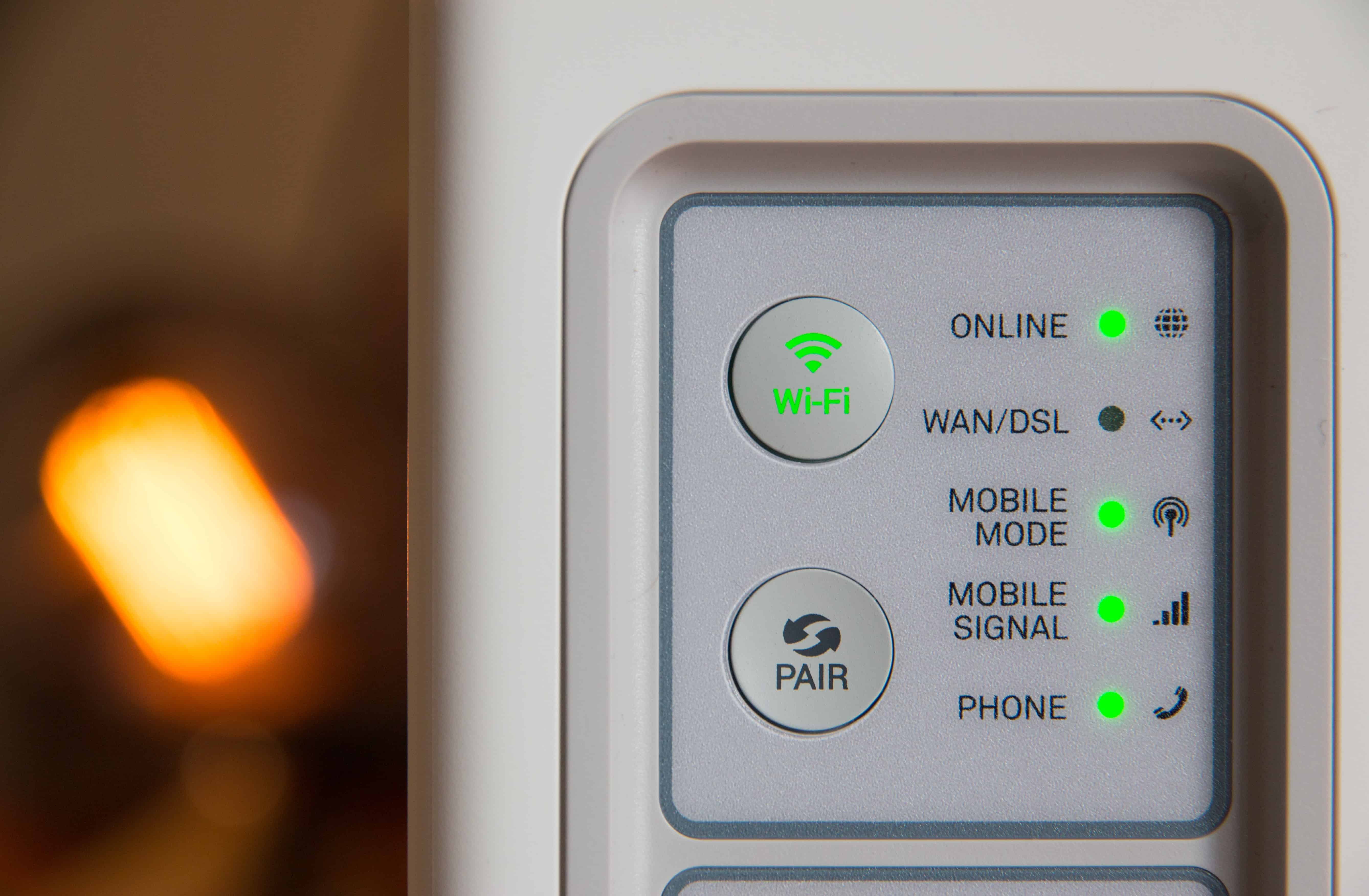 how to secure your home network image showing modem router turned on