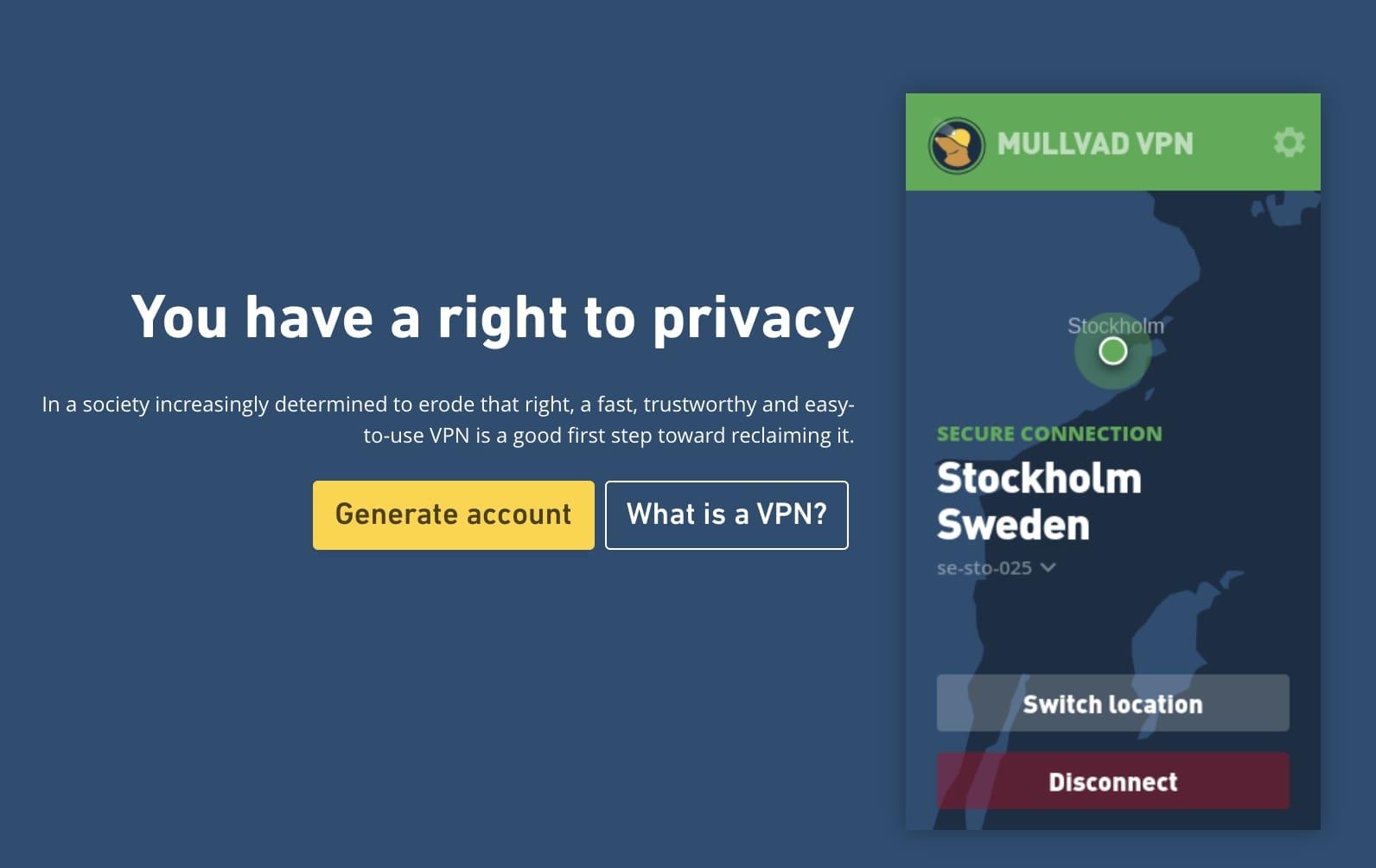 mullvad homepage