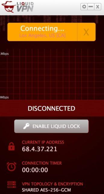 LiquidVPN doesn't connect to LA server