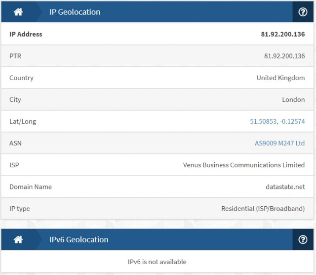 windscribe IP leak test